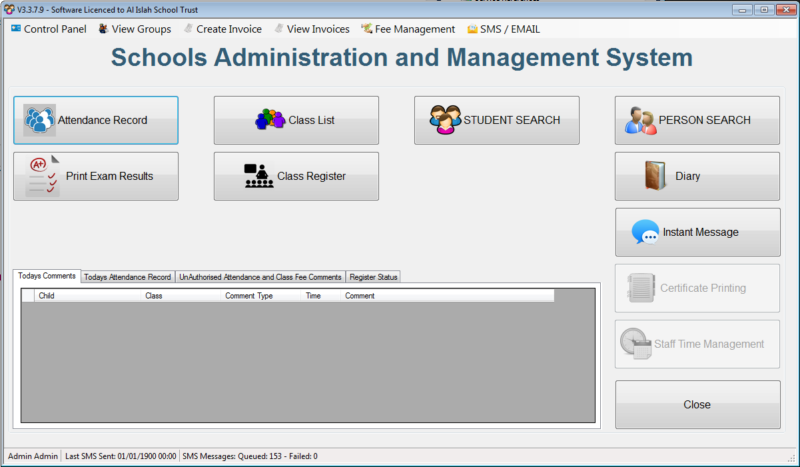 mmims sams switchboard dashboard